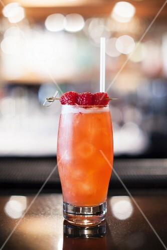 A raspberry cocktail