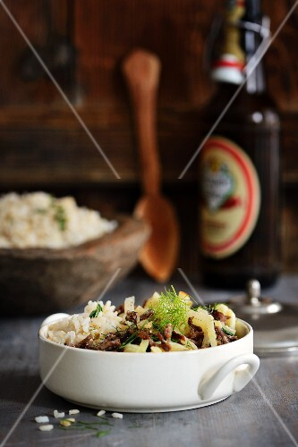 Minced meat with fennel and rice
