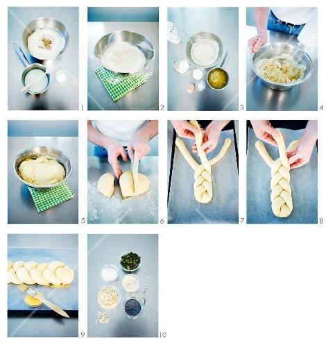 Making a bread plait