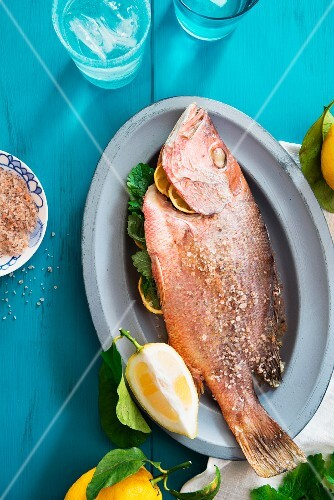 Red snapper with lemon