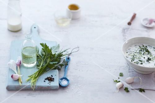 Ingredients for creamy dressings