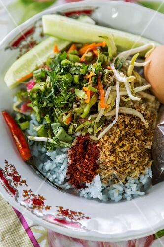 Khao Yam (rice salad, Thailand)