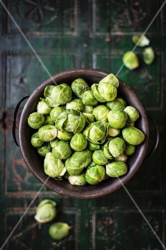 A bowl of Brussels sprouts
