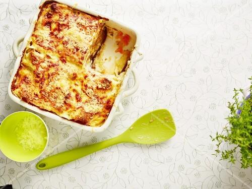 Aubergine lasagne