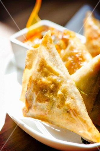 Crispy Indian samosas