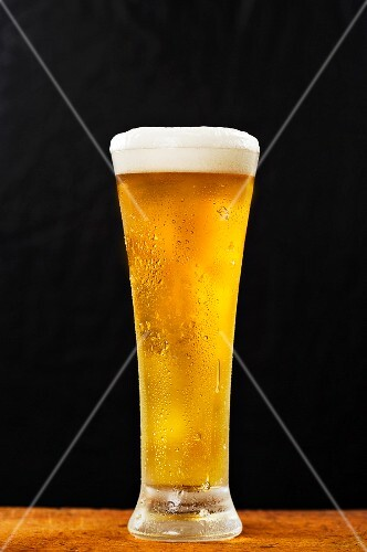 A pint of cold lager