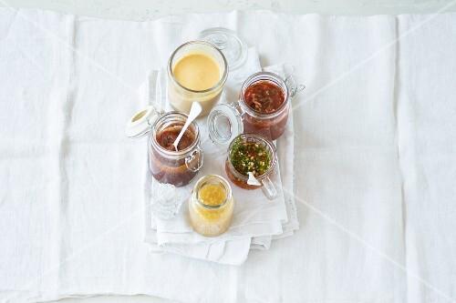 Various oriental dipping sauces