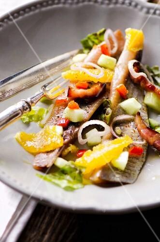 Smoked herring, onion and orange salad (Italy)
