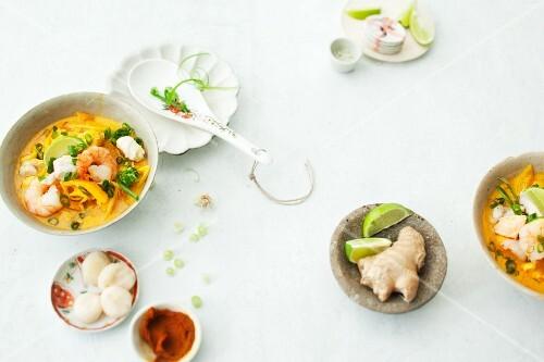 Prawn curry (Thai)