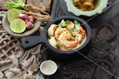Green prawn curry (Thailand)