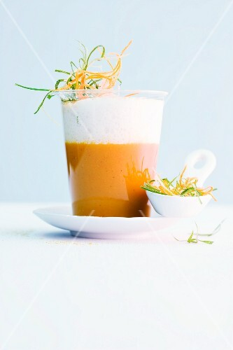 Pumpkin soup with curry and coconut foam