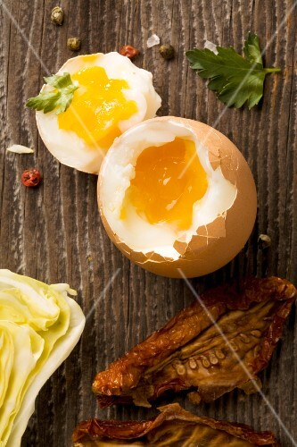 A soft boiled egg