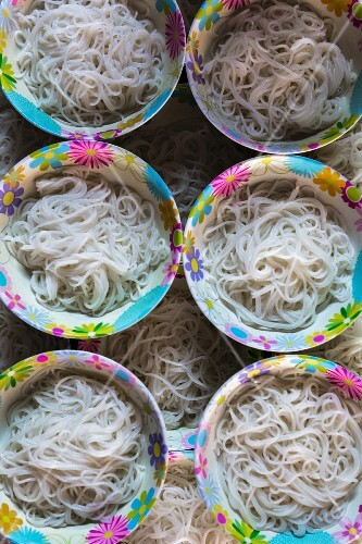 Kanom Jeen (fermented rice noodles, Thailand)