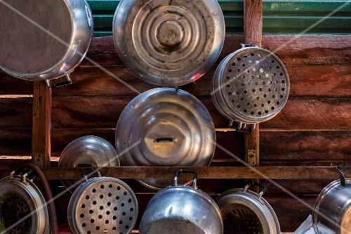 Utensils in a Thai kitchen