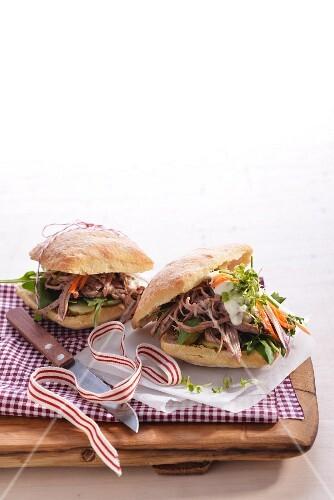 Braised brisket sandwich