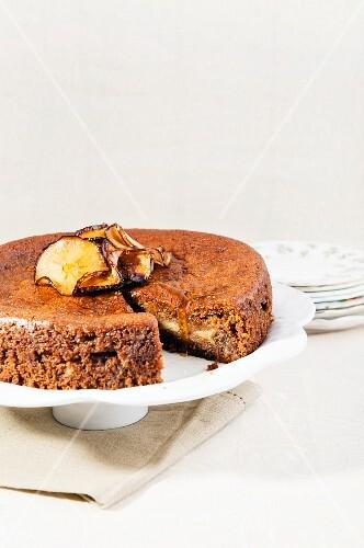Apple and honey cake