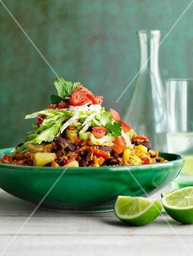 Minced meat with kidney beans, tomatoes and sweetcorn (Mexico)
