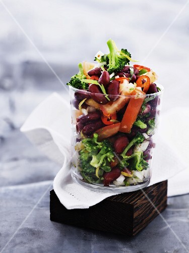 Bean salad with chilli