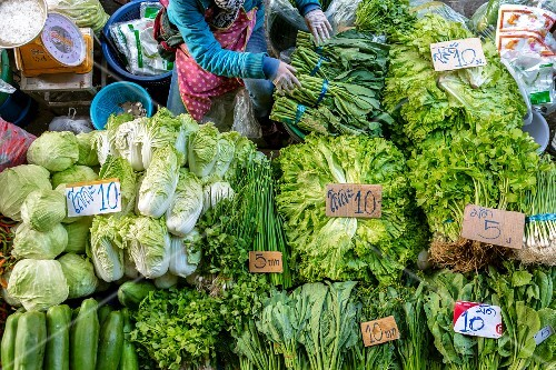 A vegetable stand (Udon Thani, North-East Thailand)