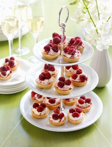 Raspberry and passion fruit tartlets