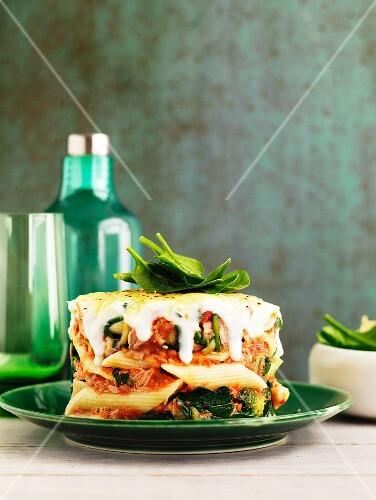 Tomato and tuna pasta bake