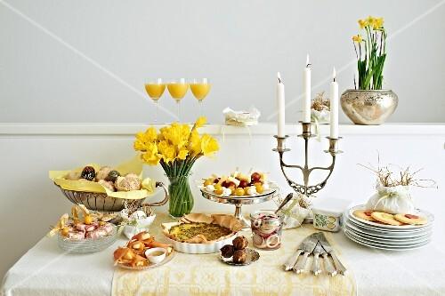 A buffet for Easter brunch