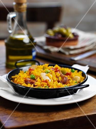 Chicken paella (Spain)