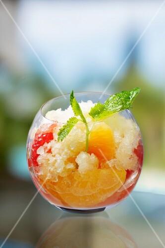 Iced orange cocktail