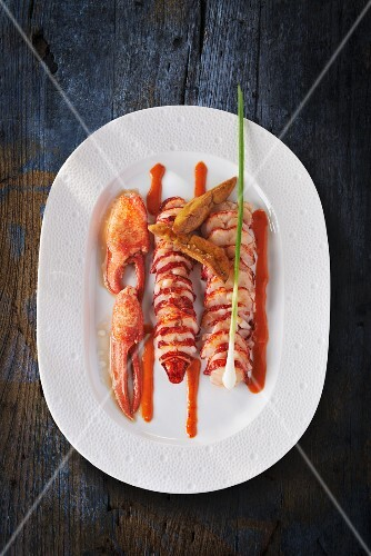 Lobster with a ginger and truffle sauce