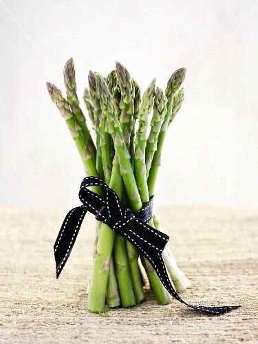 A bunch of green asparagus