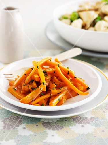 A carrot medley with honey