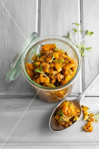 Mango achar with cardamom and mustard oil (southern India)