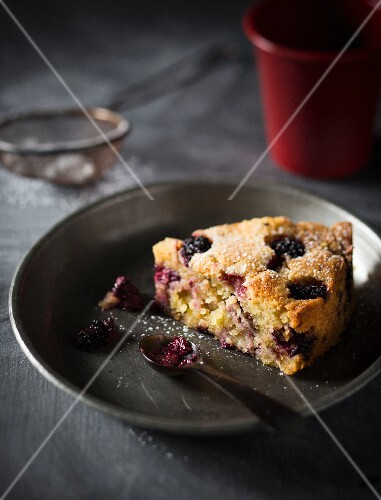 Blackberry and almond cake