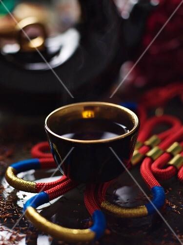 Hot tea in a mug