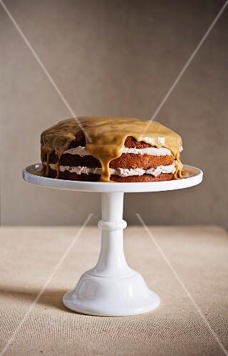 Horlicks caramel layer cake