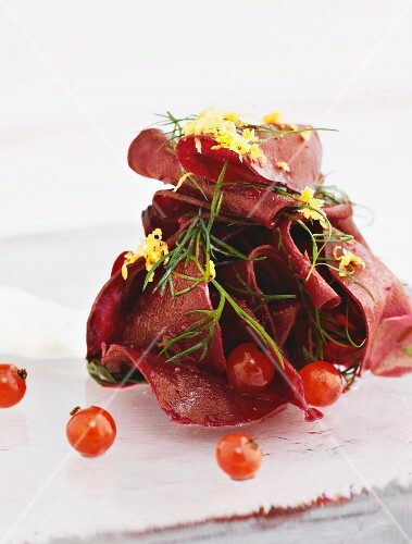Beetroot salad with horseradish and cherry tomatoes