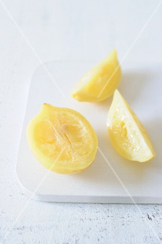 Sliced salted lemon