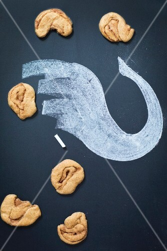 'Elephant Ear' buns with a chalk drawing of an elephant's trunk