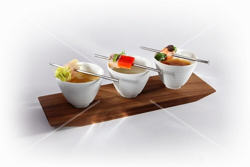Fish fondue with hake, carp and salmon trout