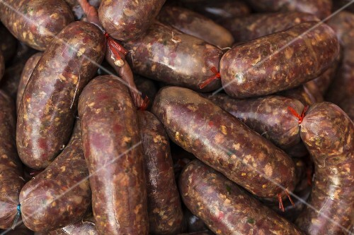 Beef sausages from Vientiane, Laos
