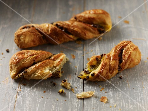 Danish pastries with chocolate chips