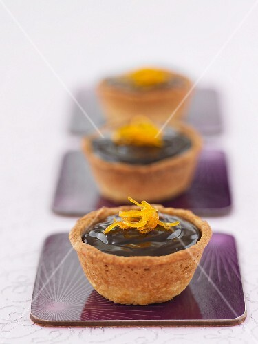 Chocolate and orange tartlets