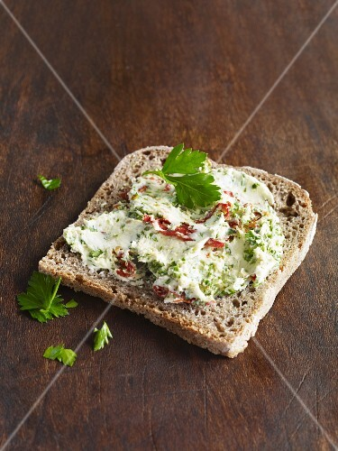 Italian cream cheese with herbs and dried tomatoes