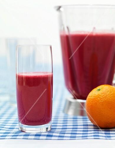 A fresh multi-fruit smoothie