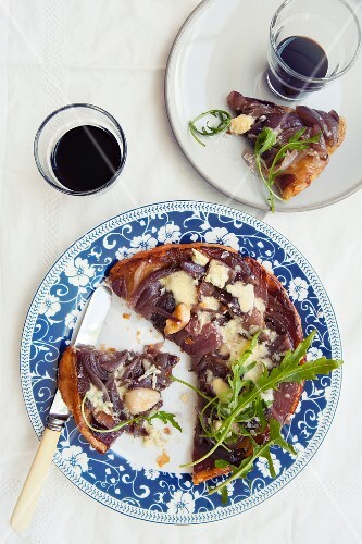 Cheese and onion tart tatin