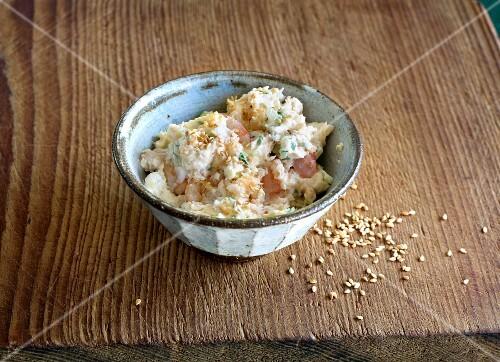 Prawn and wasabi spread