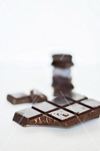A broken bar of chocolate