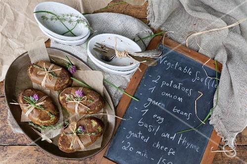 Homemade vegetable soufflés as a gift