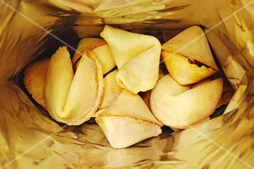 Fortune cookies in a bag