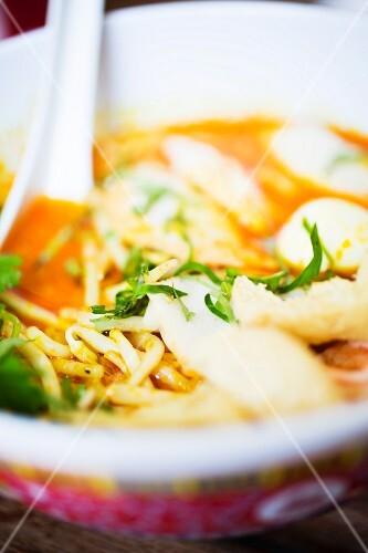 Chicken noodle soup (Thailand)